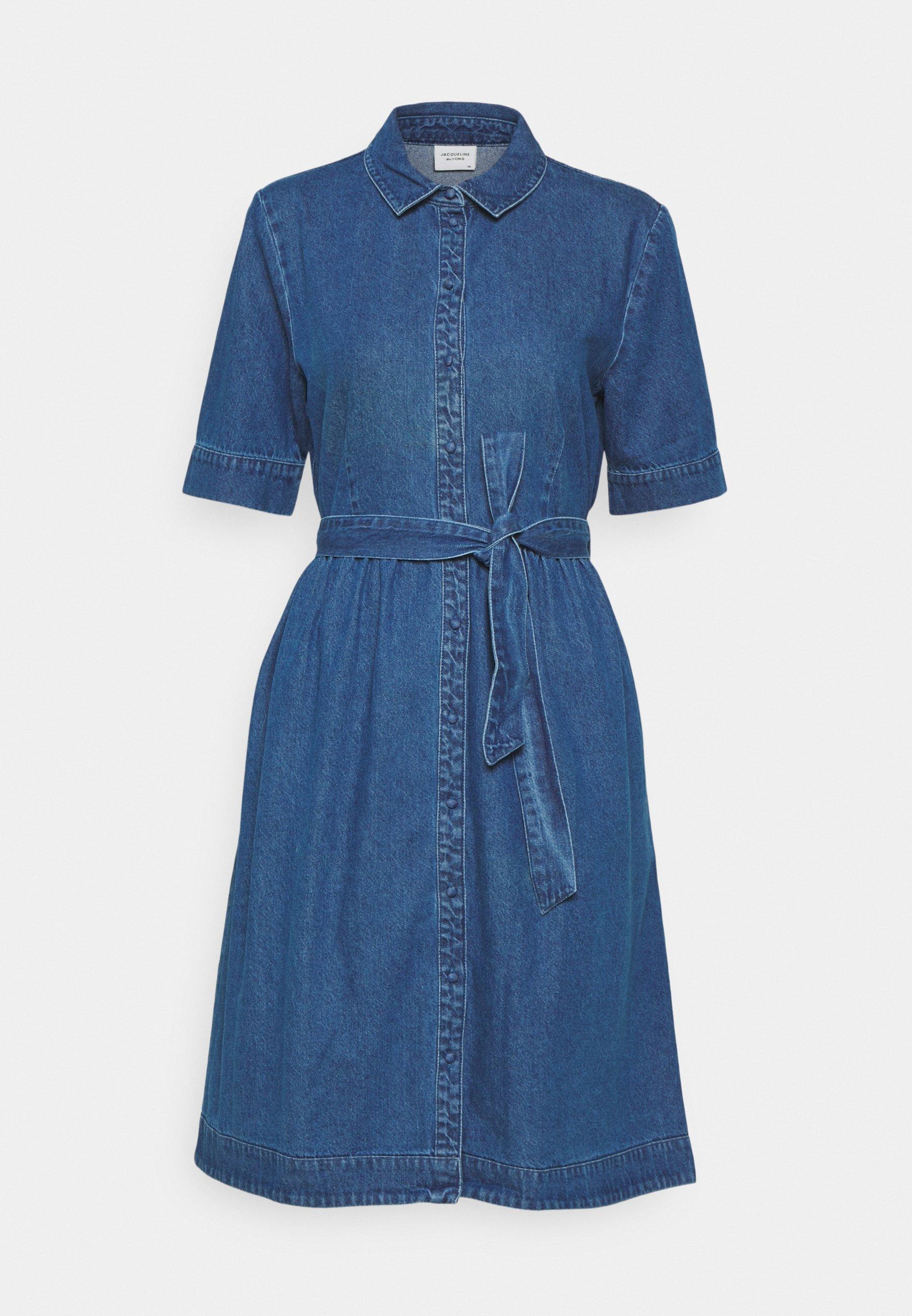 Women JDYSANDRA LIFE SHIRT DRESS - Denim dress