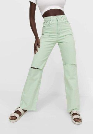 Jean droit - light green