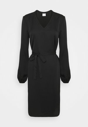 VIELLETTE VNECK DRESS - Kjole - black