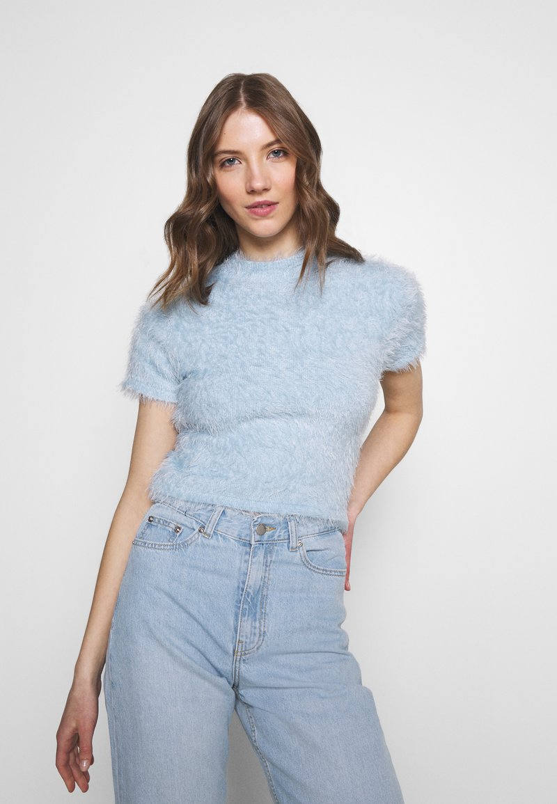 Monki - Print T-shirt - light blue