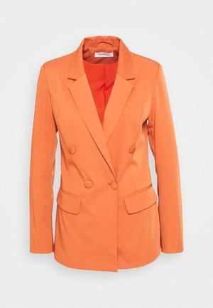 DOUBLE BREASTED JACKET - Blazer - rust