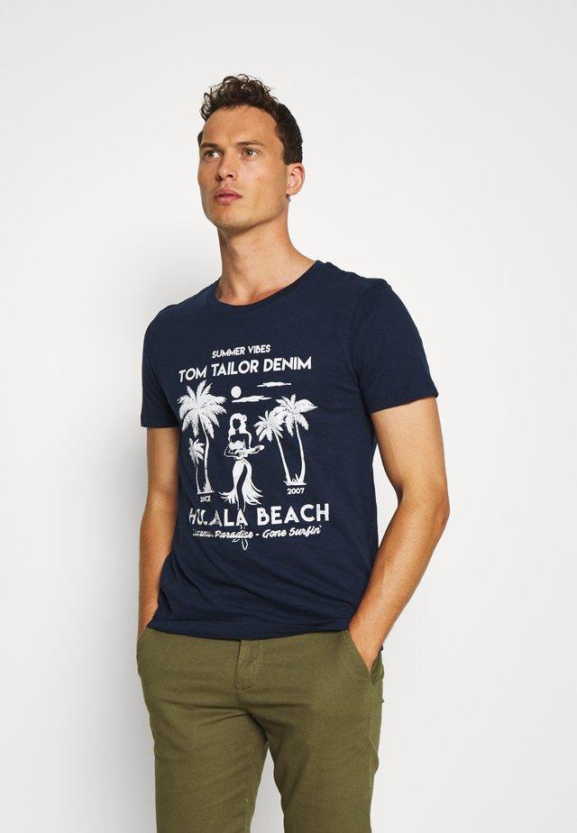 T-shirt imprimé - agate stone blue