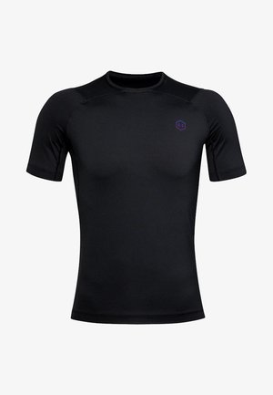 UA RUSH HG COMPRESSION SS - T-shirt basic - black