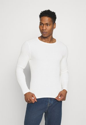 ONSLEXON LIFE STRUCTURE CREW NECK - Pullover - star white