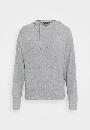 BRUSHED HOODY - Strikkegenser - grey