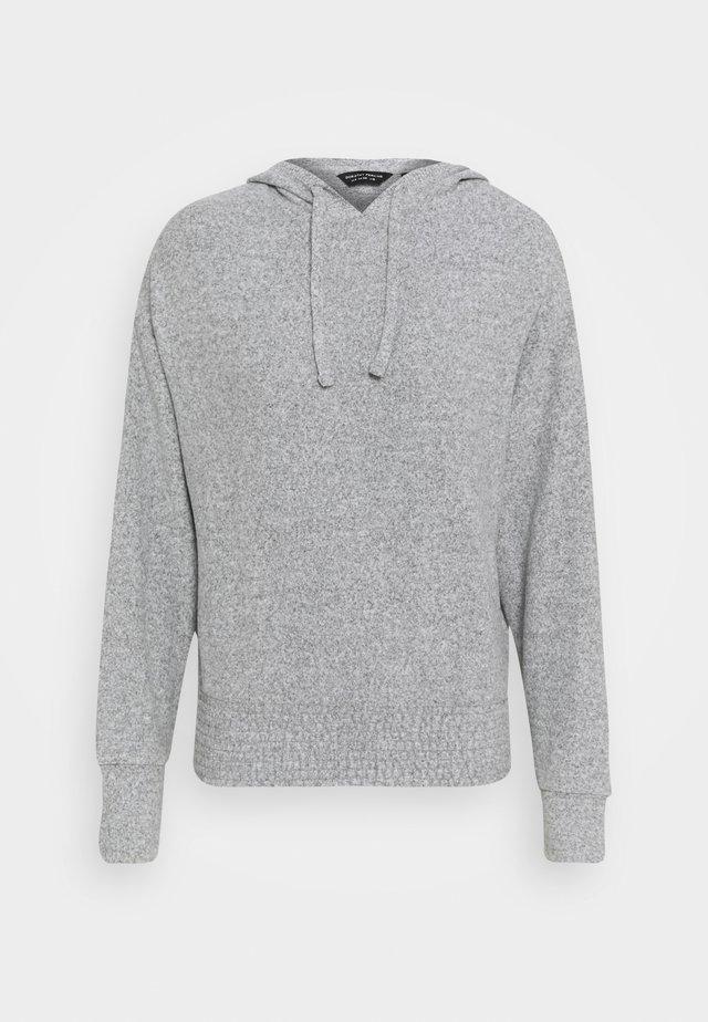 BRUSHED HOODY - Jumper - grey