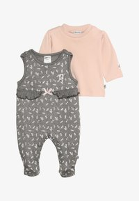 Jacky Baby - IN THE CLOUDS SET - Sleep suit - braun mélange/rosa - 3