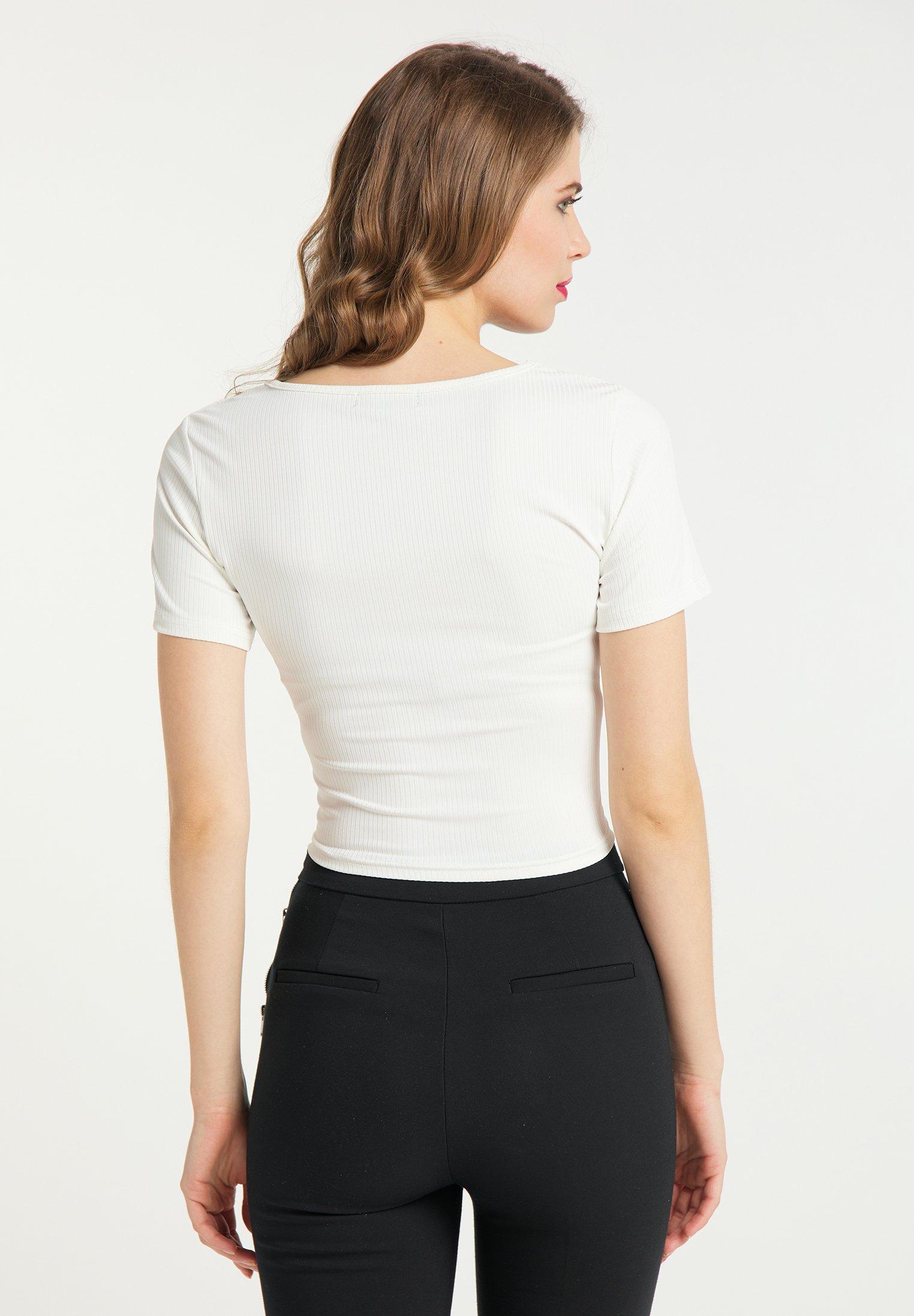 High Quality Women's Clothing faina Print T-shirt weiss WAOCdVH8e