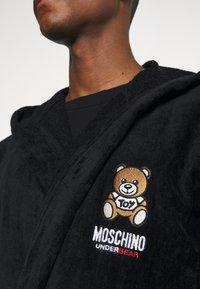 Moschino Underwear - BATHROBE - Badekåpe - black - 6