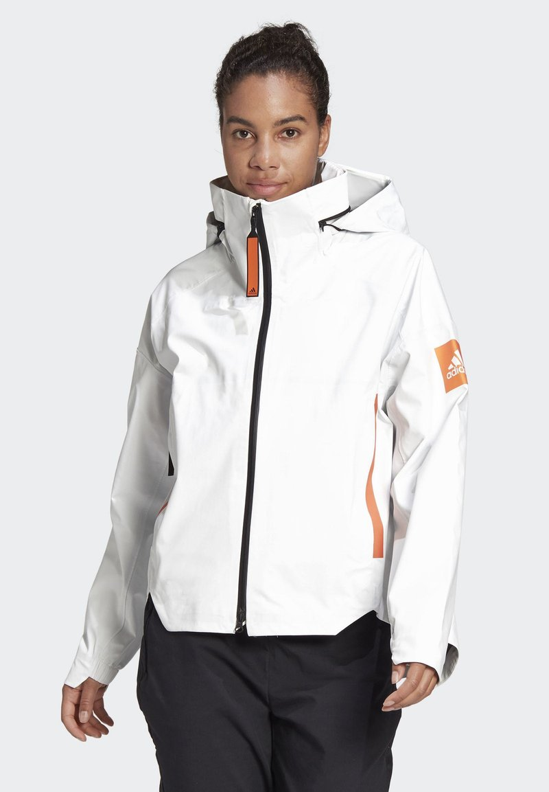 adidas Performance - MYSHELTER URBAN RAIN.RDY OUTDOOR - Waterproof jacket - white