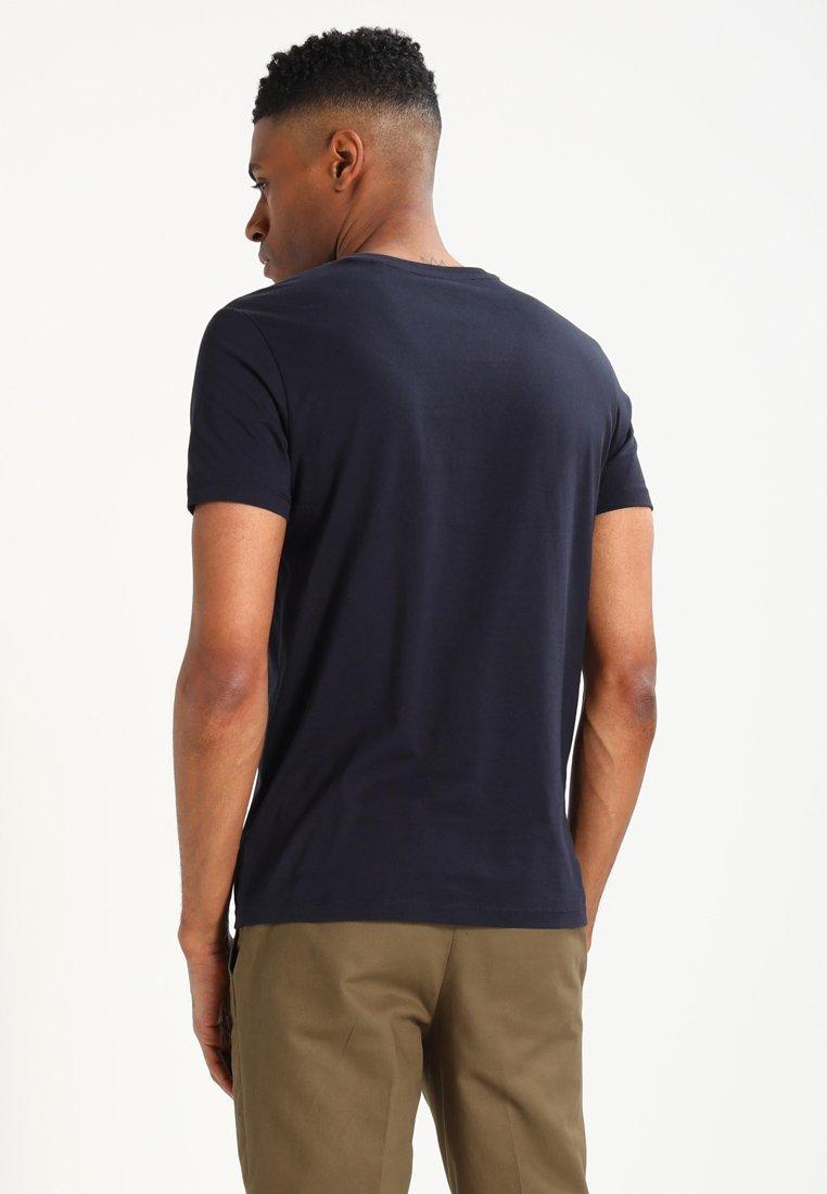 Marc O'Polo BASIC V-NECK - Basic T-shirt - navy Yy64R