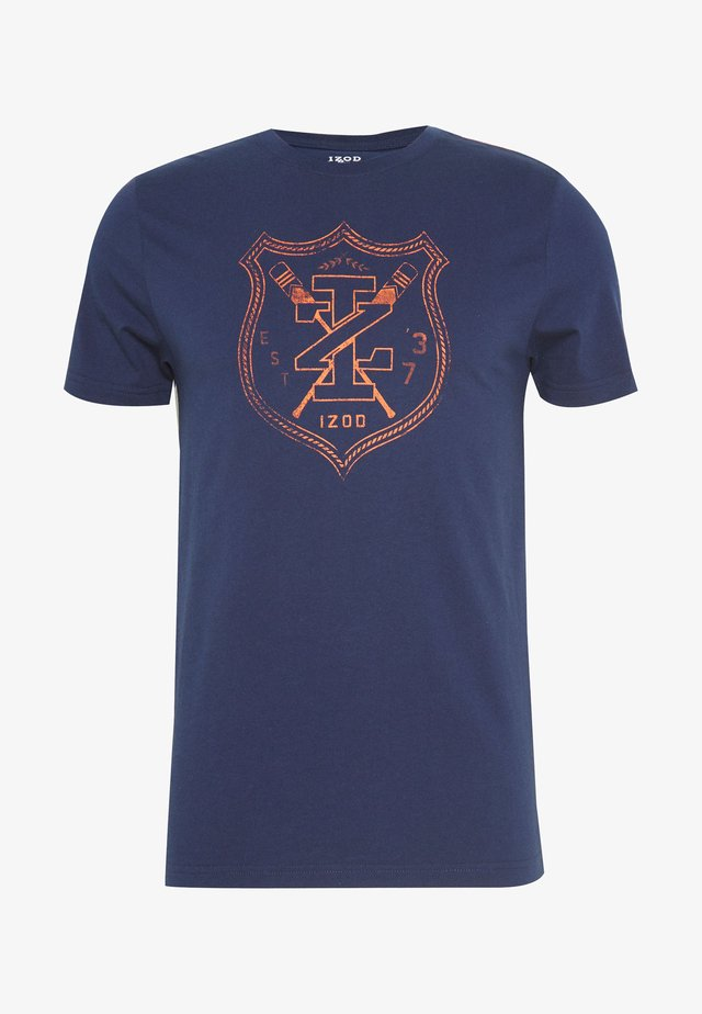 ROVER SHIELD TEE - T-shirt print - peacoat