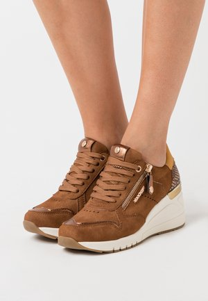 Sneakers basse - cognac/braun