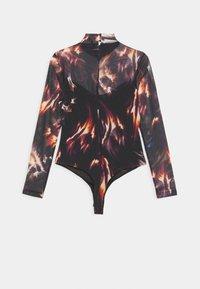 AllSaints - FLAMES ELIA BODYSUIT - Long sleeved top - black - 1