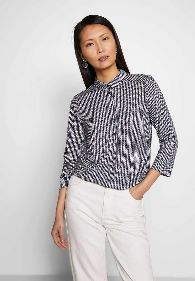 Marc O'Polo - BLOUSE 3 4-SLEEVE PLACKET WITH COLLAR - Blusa - multi/night sky