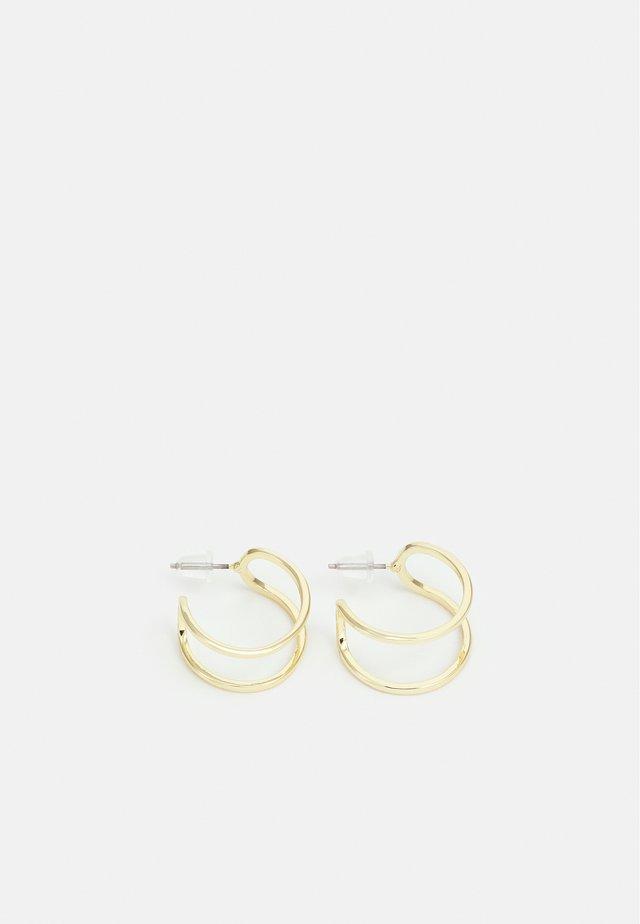 ANCHOR OVAL EAR - Oorbellen - gold-coloured
