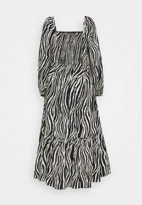 YAS - YASZEBRILLA ANKLE DRESS - Maxi dress - black/white - 1