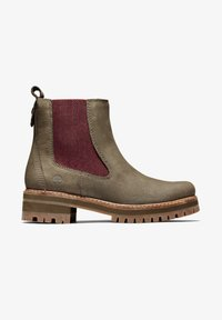 Timberland - COURMAYEUR VALLEY CHELSEA - Boots - olive nubuck w burg - 0