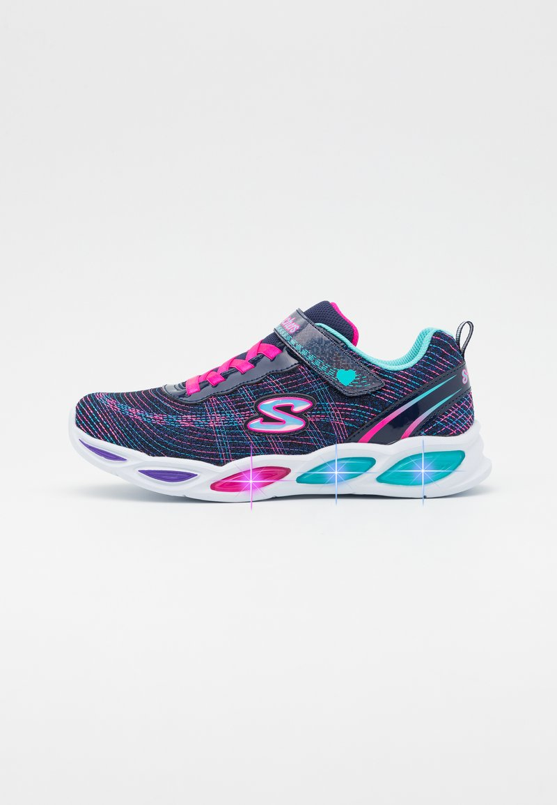 Skechers - SHIMMER BEAMS - Trainers - navy sparkle/multicolor