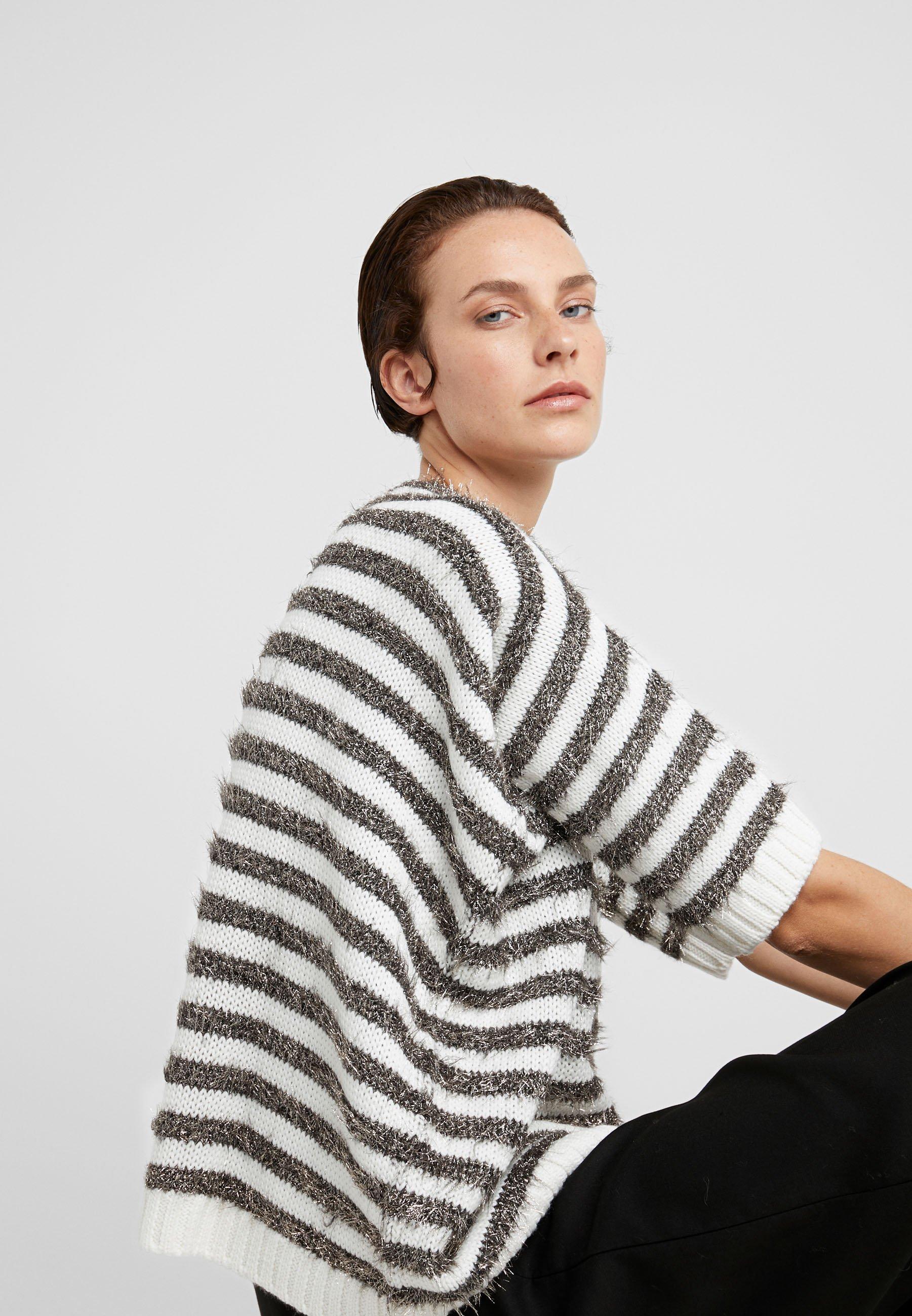 MAX&Co. PIUMINO - Strikkegenser - white pattern