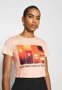 Trendyol - Print T-shirt - beige - 5