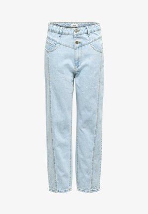 STRAIGHT FIT JEANS ONLISLA LIFE MID ANKLE - Straight leg jeans - light blue denim