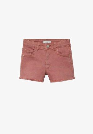 MET GERAFELDE ZOMEN - Denim shorts - roze