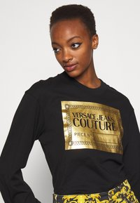 Versace Jeans Couture - Long sleeved top - black/gold - 3