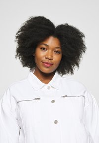 Missguided Plus - OVERSIZED JACKET - Denim jacket - white - 4