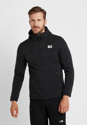 GORDON LYONS HOODIE - Fleecejacka - black heather