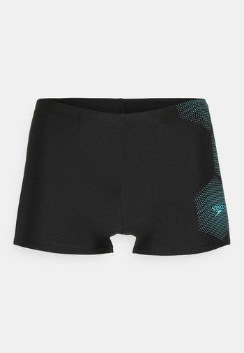 GALA LOGO - Swimming trunks - black/light adriatic