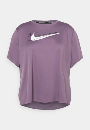 RUN PLUS - T-shirts med print - amethyst smoke/silver