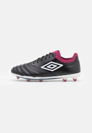 TOCCO PRO FG - Moulded stud football boots - black/white/raspberry radiance/pink peacock