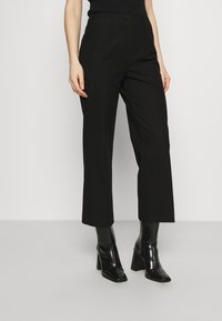 Selected Femme - SLFLINA WIDE ANKLE PANT - Trousers - black - 0