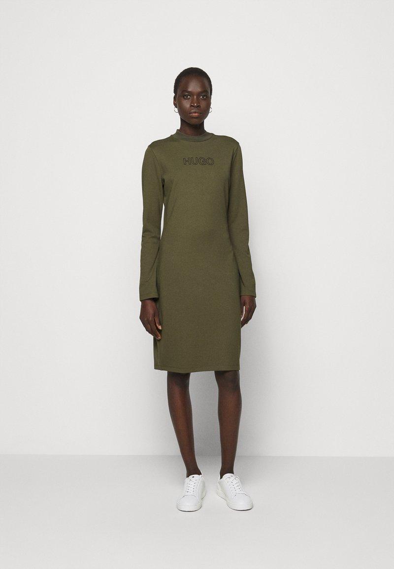 HUGO - DASSY - Jersey dress - beige/khaki