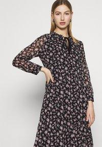 Vero Moda - VMFILIA TIE CALF DRESS - Day dress - black/rose - 3