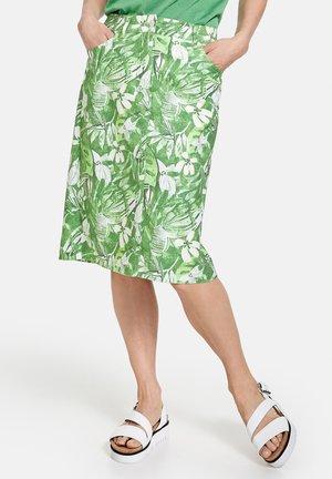 A-line skirt - grün/hellgrün/weiß