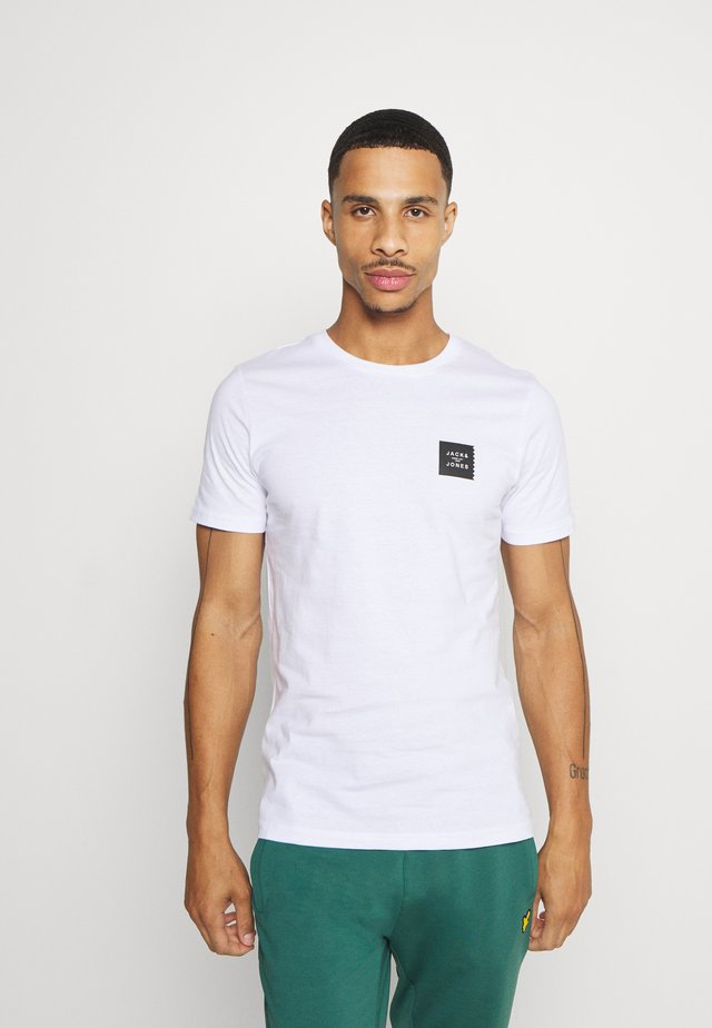 JCOJAY TEE CREW  NECK - Jednoduché triko - white