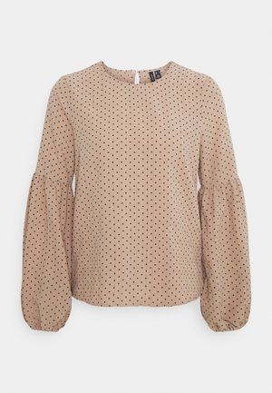 VMHELENA TOP - Blouse - beige