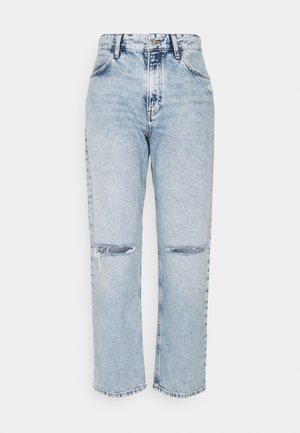 BERLIN - Jeansy Relaxed Fit - ripped blue denim