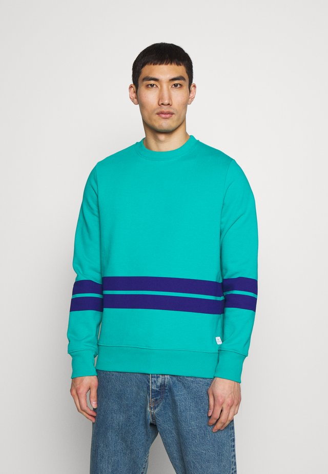 MENS FIT STRIPE - Felpa - turquoise