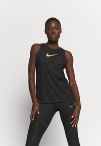 Nike Performance - DRY TANK SLUB ICON - Topper - black - 0