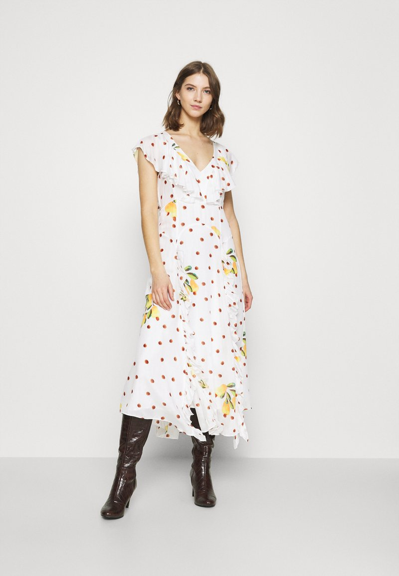 Farm Rio - CASHEW DOT MAXI DRESS - Day dress - multi