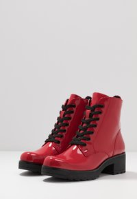 Marco Tozzi - Platform ankle boots - red - 4