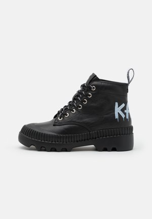 TREKKA BRUSH LOGO HIKER - Ankle Boot - black