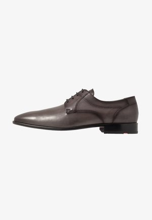 MANON - Elegantní šněrovací boty - light grey