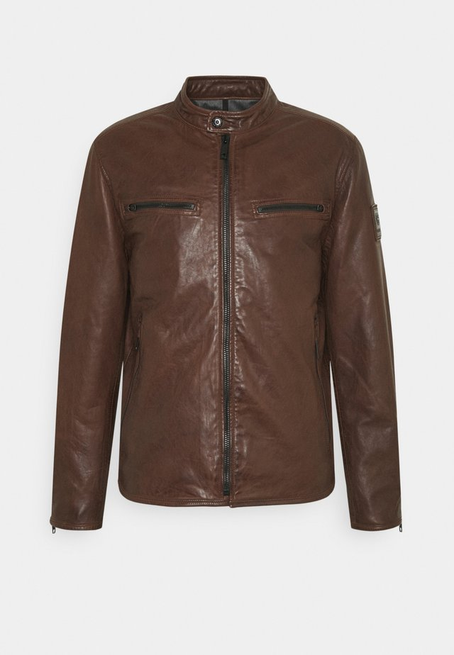 NORWICH - Leather jacket - bison