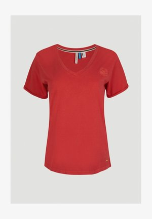 Basic T-shirt - hot coral