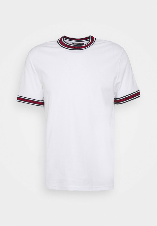 LOGO TAPE TEE - T-shirt imprimé - white