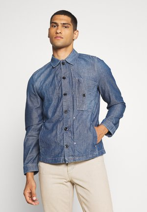 SCUTAR DENIM OVERSHIRT - Denim jacket - navy